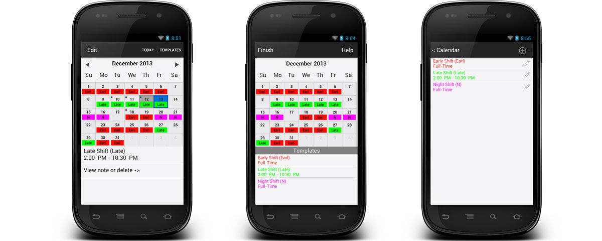 Your Shifts - Your Roster-Calendar for Android